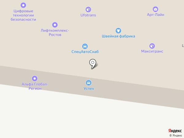 Локкард на карте Ростова-на-Дону