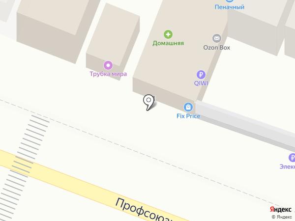 Пенное на карте Ростова-на-Дону