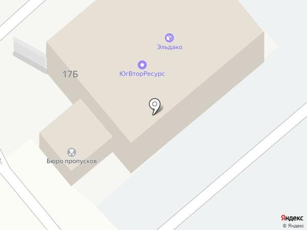 Эльдако Юг на карте Ростова-на-Дону