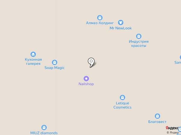 Сеть студий маникюра Лены Лениной на карте Рязани