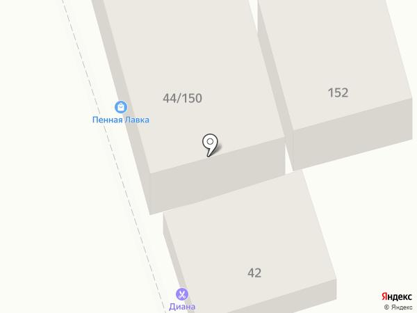 Чайка на карте Ростова-на-Дону
