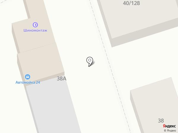 Шиномонтажная мастерская на ул. Варфоломеева на карте Ростова-на-Дону