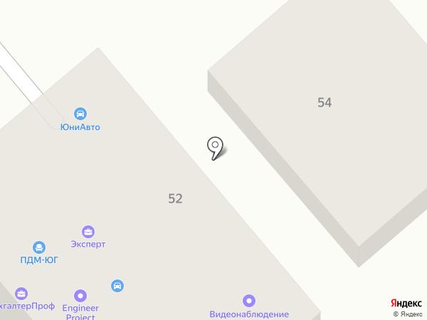 Внедрение на карте Ростова-на-Дону