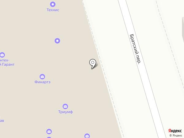 Технис на карте Ростова-на-Дону