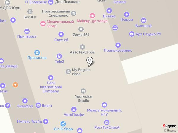 Ростовская юридическая компания на карте Ростова-на-Дону