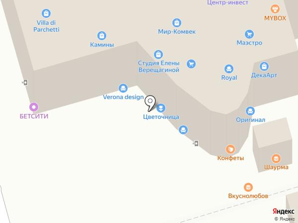Магазин-салон каминов на карте Ростова-на-Дону