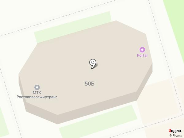 Кафе на Московской на карте Ростова-на-Дону