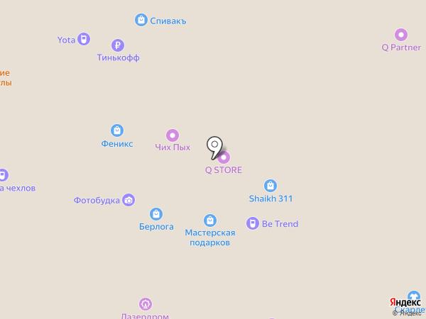 Феникс на карте Рязани