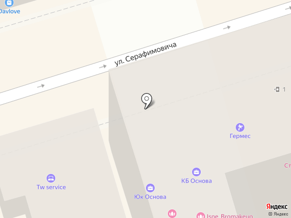 Гермес на карте Ростова-на-Дону