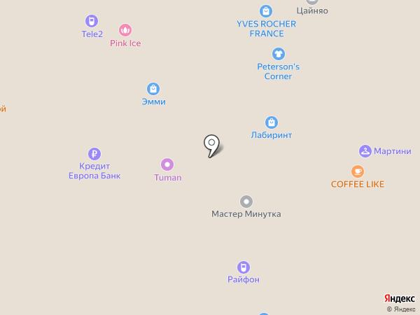 Банкомат, Кредит Европа банк на карте Рязани