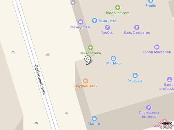 Донград на карте Ростова-на-Дону