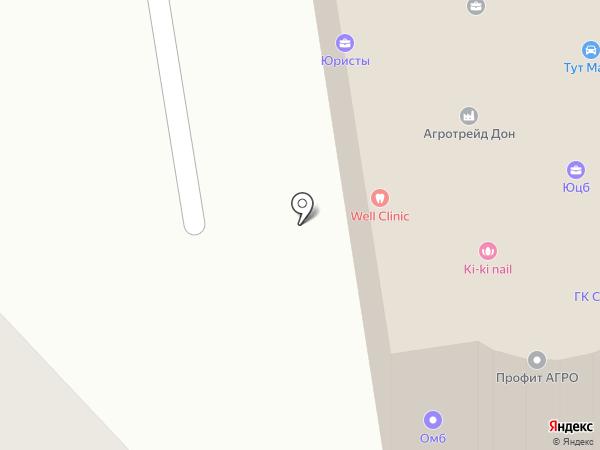 Зенит на карте Ростова-на-Дону