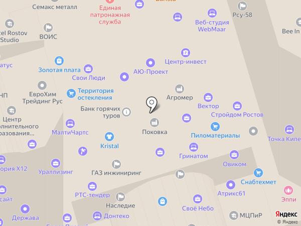 Меридиан-Ростов на карте Ростова-на-Дону