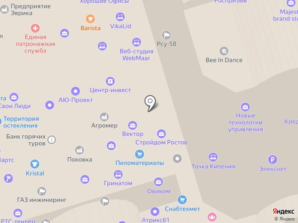 ЮНИСТРИМ на карте Ростова-на-Дону