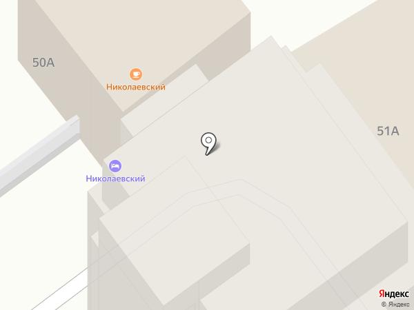 Николаевский на карте Ростова-на-Дону
