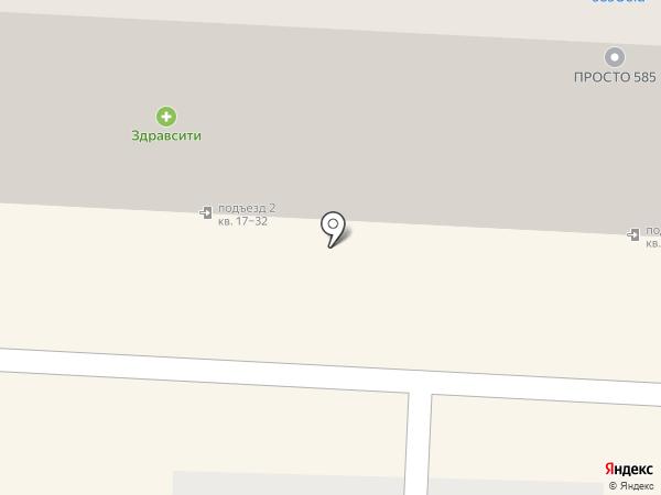 Комплексная фотография на карте Рязани