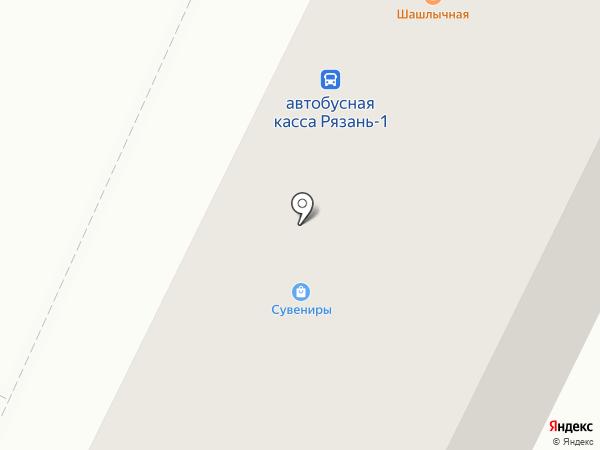 Киоск по продаже проездных билетов на карте Рязани