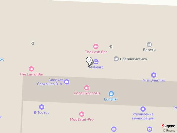 Аврора, ЗАО на карте Ростова-на-Дону