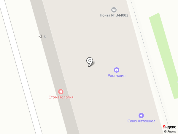 Дон-Пекарь на карте Ростова-на-Дону