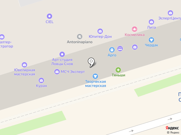 Саламандра на карте Ростова-на-Дону