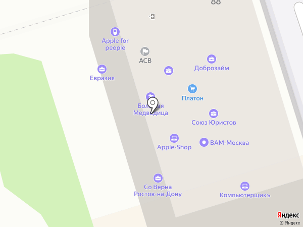 Дон-Медиа Групп на карте Ростова-на-Дону