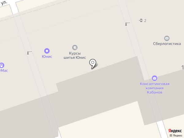 Юнис на карте Ростова-на-Дону