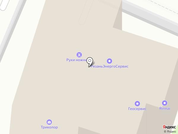 Триколор на карте Рязани