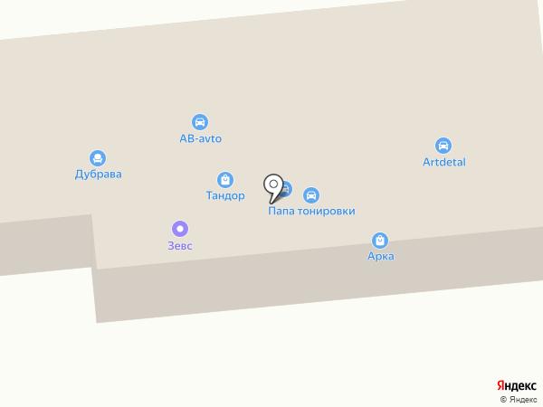 Юг-Строй на карте Батайска