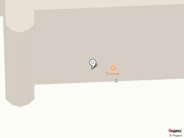 Есенин на карте Рязани