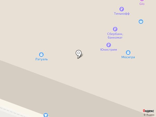 Мосигра на карте Ростова-на-Дону