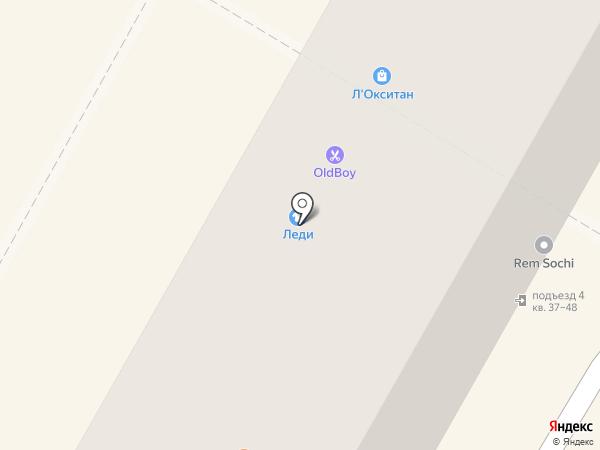 OLDBOY Barbershop на карте Сочи