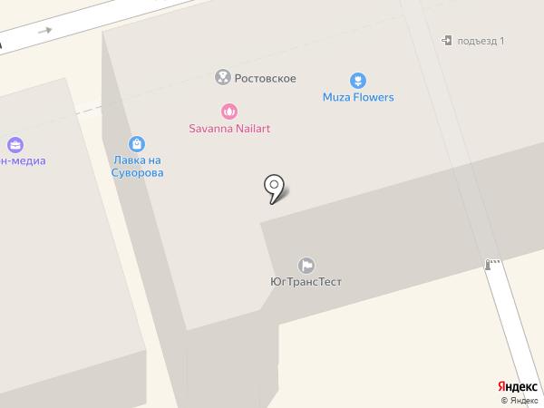 На Суворова на карте Ростова-на-Дону