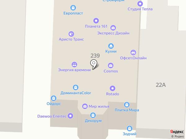 Солнечные дома на карте Ростова-на-Дону