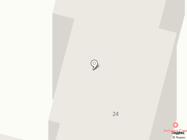 Эмбрио на карте Сочи