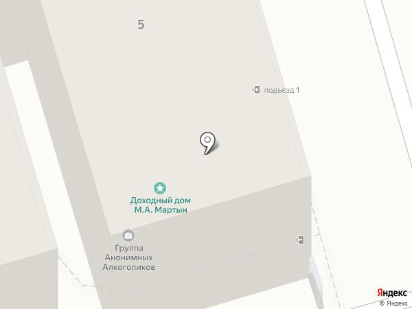 Сеть продуктовых магазинов на карте Ростова-на-Дону