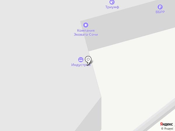 Сочи Флаг на карте Сочи