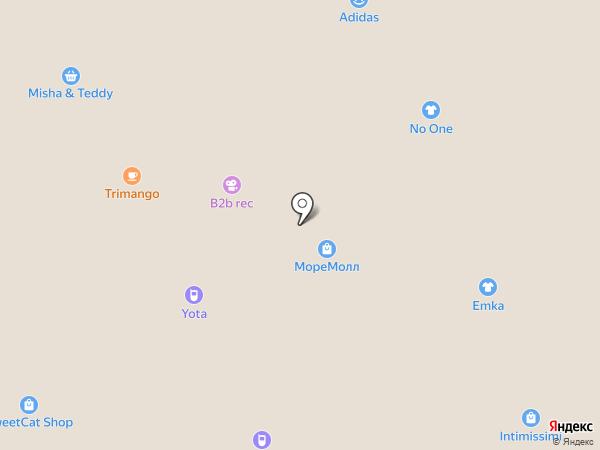 Море шаров на карте Сочи