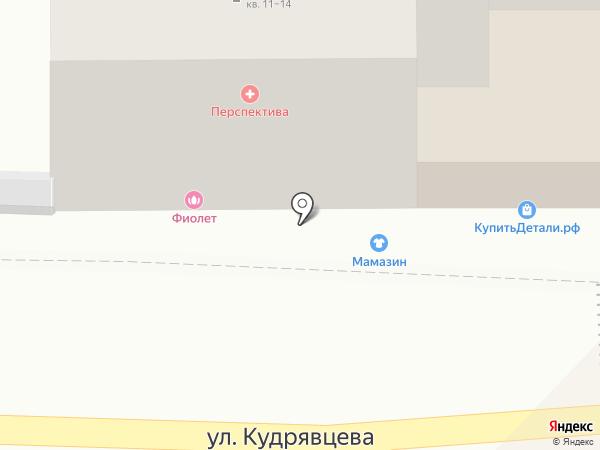 Фиолет на карте Рязани