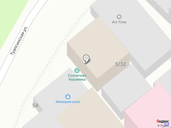 Практик на карте Сочи