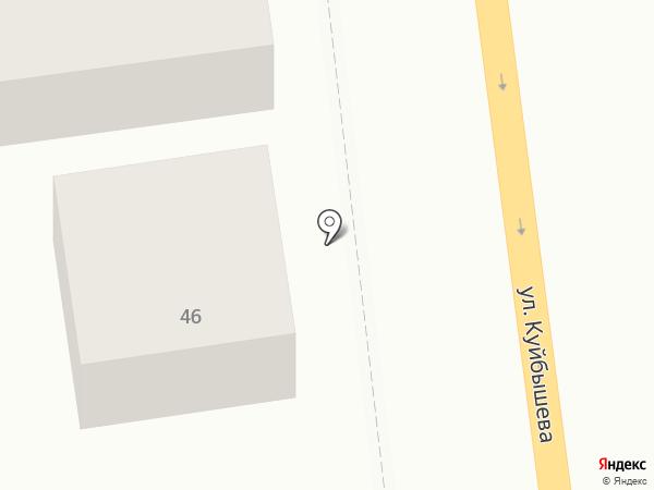 Каскад на карте Батайска