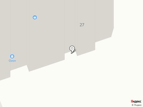 Оранжевая коробочка на карте Рязани