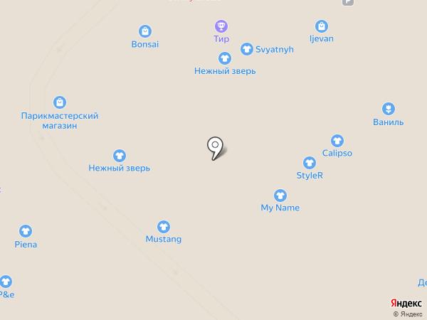 Нежный зверь на карте Рязани