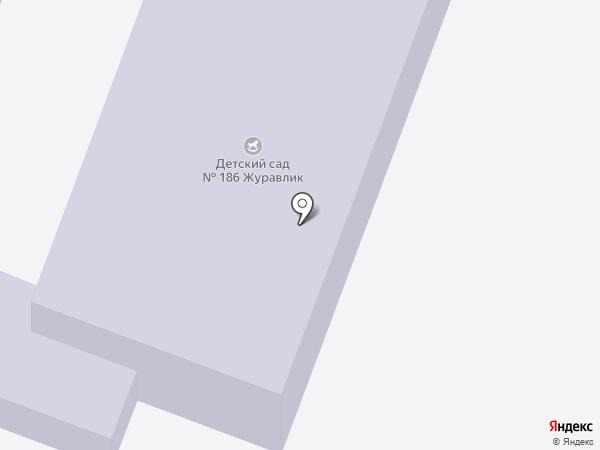 Детский сад №186, Журавлик на карте Ростова-на-Дону
