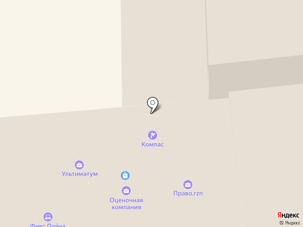 Компас на карте Рязани