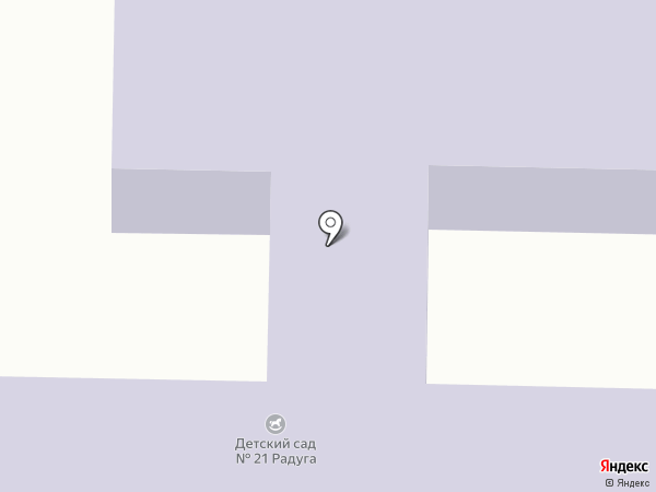 Детский сад №21, Радуга на карте Батайска