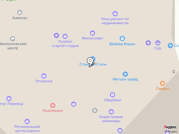 Лионес-Торг на карте Рязани