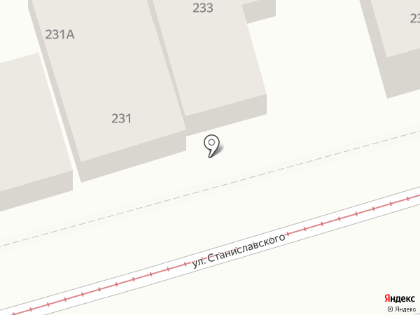 Южанка на карте Ростова-на-Дону