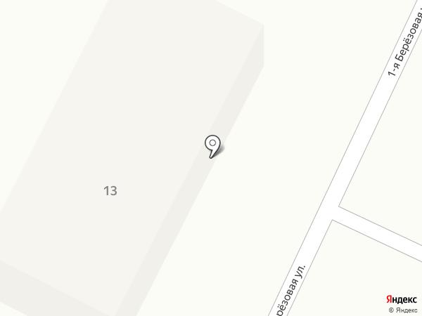 Берёзовая роща, коттеджный поселок на карте Батайска