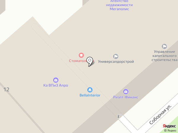ДЕНТИН на карте Рязани