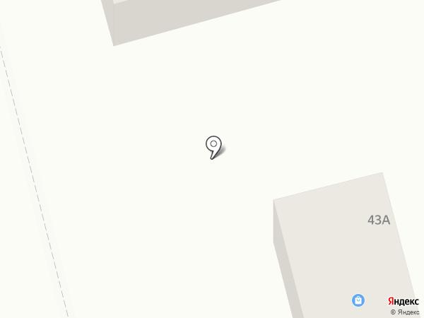 Силуэт на карте Батайска